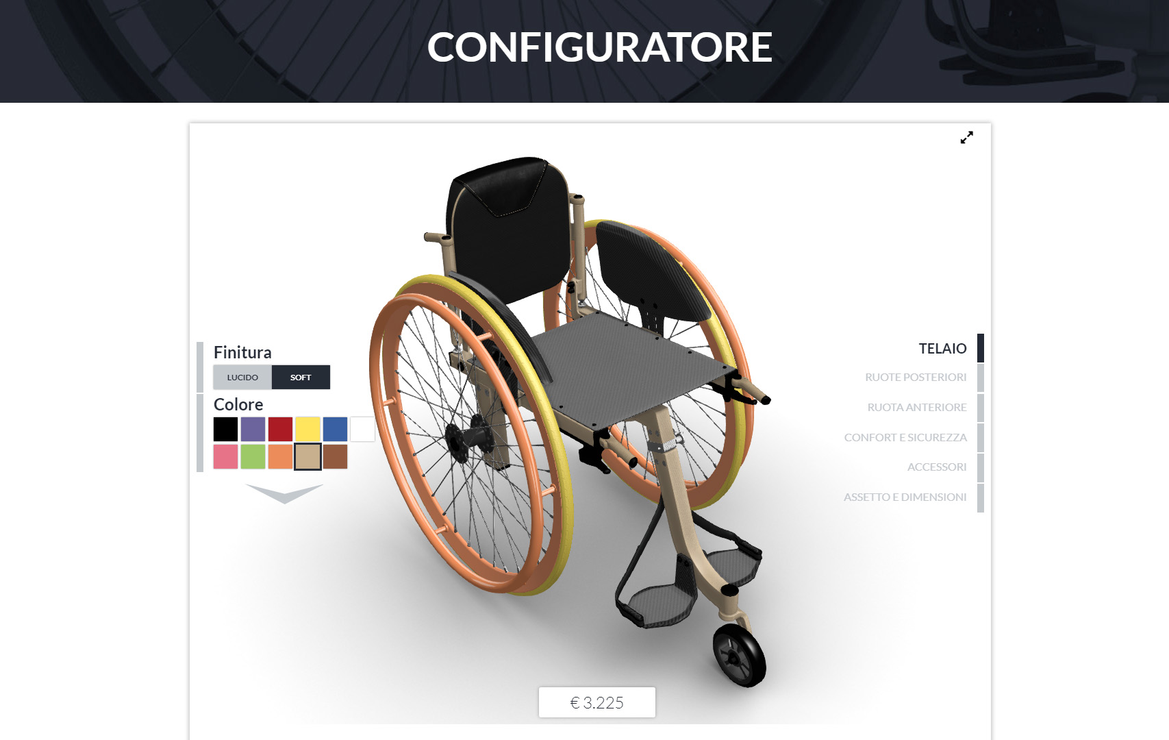 Configuratore 3D Blender Conference